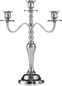 Hampton 3 lite candelabra 15.5in
