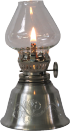 1309D1 Oil lamp, design mini burner victorian chimney 5in high